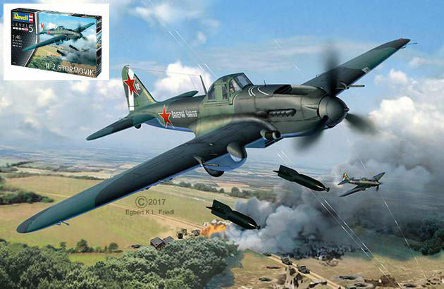 IL-2 Stormovik Bomber Fighter Plastic Kit 1 48 Model 03932 REVELL