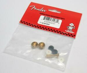 New-genuine-FENDER-Strap-Buttons-GOLD