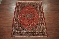 8X9 Fine Persian Mashad Hand-Knotted Oriental Area Rug Wool Carpet (7.6 x 9.4)