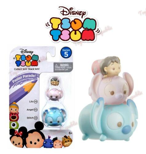 Disney Tsum Tsum Series 5 Pastel Parade Lilo Angel /& Stitch Minifigure 3-Pack