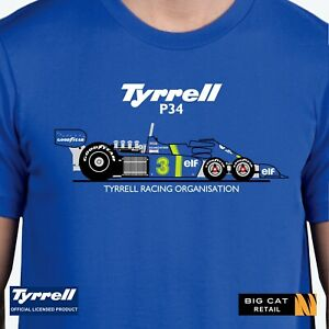 Official-Tyrrell-P34-Racing-Car-Blue-T-Shirt