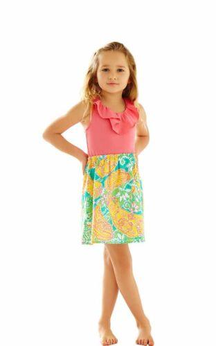 Lilly Pulitzer Girls/' Little Loranne Dress Multi Pop Goes The Lemur NWT L