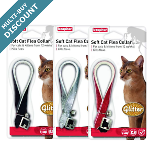 Beaphar-GLITTER-Cat-Flea-Collar-Collar-with-bell-Assorted-OFFER