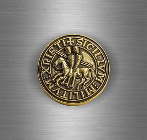Sticker Car Biker Maltese Shield Airsoft Seal Crusader Cross Templar