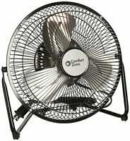 Comfort Zone Czhv9b 9inch 3 Speed High Velocity Cradle Fan, New, Free Shipping on sale