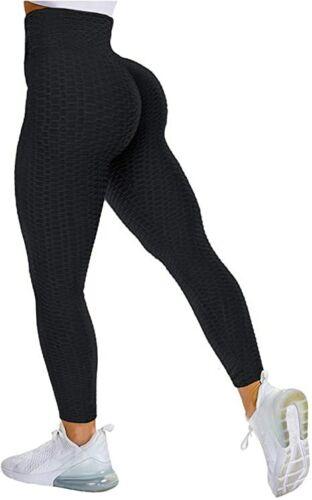 Women Anti-Cellulite Yoga Pants Ruched Scrunch Booty Push Up High Waist Leggings