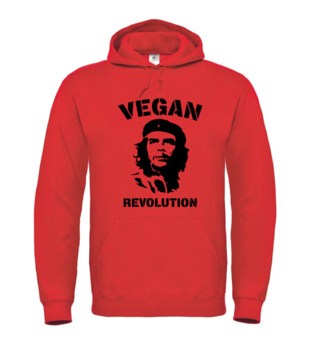 Hoodie Tierschutz Che Guevara Vegetarier Hardcore Punk VEGAN REVOLUTION