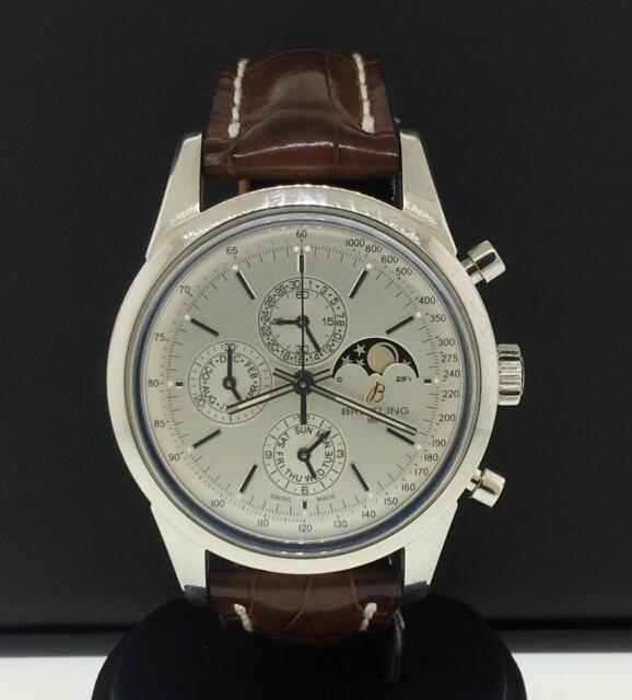 b2d0b572d75 Breitling Transocean Chronograph 43mm Stainless Steel Automatic Ref. A19310