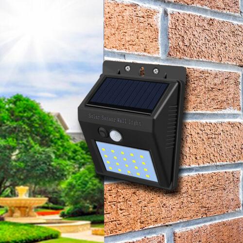 4x 20LED Solar Power Light PIR Motion Sensor Security Outdoor Garden Wall Lamp