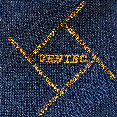 Ventec corporate tie Ventilation Technology company Vintage 1960s 1970s kipper