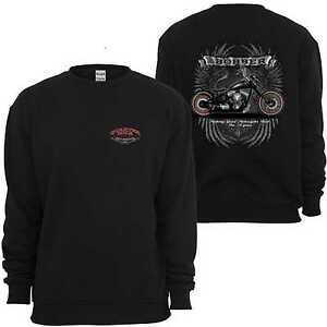 Nero Modello V Vecchio Sweatshirt Scuola Motivi Hd Chopper Biker Twin Di d1x6U