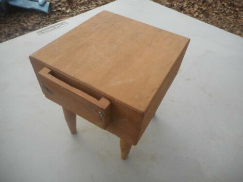 "Vintage Doll House Best Ever Japan Wood Chopping Block 4.5"" x 4.25"""