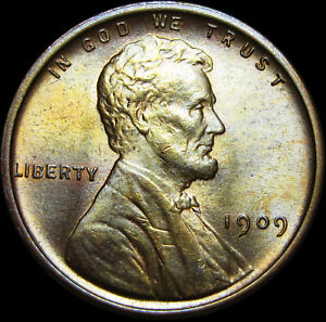 Wheat Penny Rolls Capped With 1909 VDB Wheat /& UNC Looking Lincoln Wheat Cent