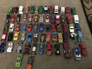 Lot-of-65-Hot-Wheels-Matchbox-amp-Misc-Cars-Diecast-amp-Plastic
