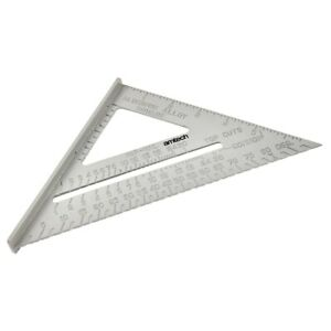 """Amtech 6"""" Aluminium Alloy Roofing Rafter Speed Square Triangle Angle Guide Roof"""