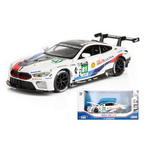 1-32-BMW-M8-GTE-Le-Mans-Die-Cast-Modellauto-Auto-Spielzeug-Kinder-Model-Sammlung
