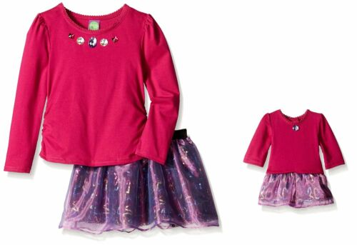 Dollie /& Me Girl 4-14 and Doll Matching Purple Sequin Skirt Outfit American Girl