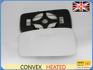 For AUDI 80//90 COUPE 1986-1996 Wing Mirror Glass Convex HEATED Left Side //A001