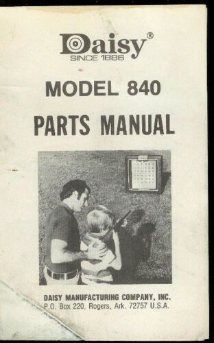 *Copy Daisy Model 840 BB Rifle Gun Illustrated Parts List Manual /& Expanded View