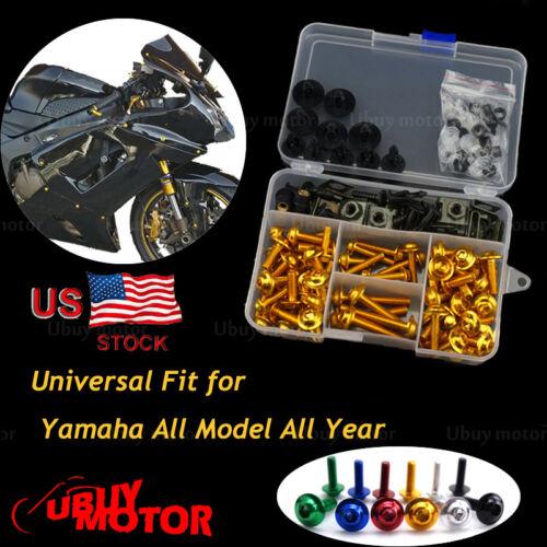 CNC Alloy Complete Fairing Bolt Kit Bodywork Screws Yamaha YZF R1 2000 2001 Gold
