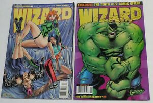 Two Wizard Comic Book Collectible Price Guides, #44 & #86- VGC