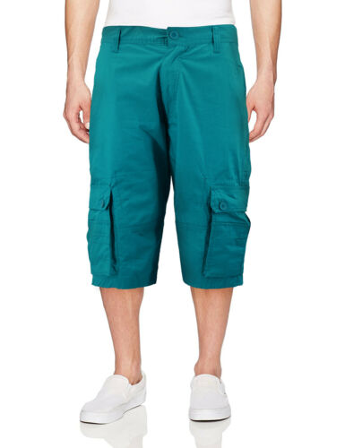 Men/'s Cotton Cargo Shorts Relaxed Fit With Multiple Button Flap Pockets