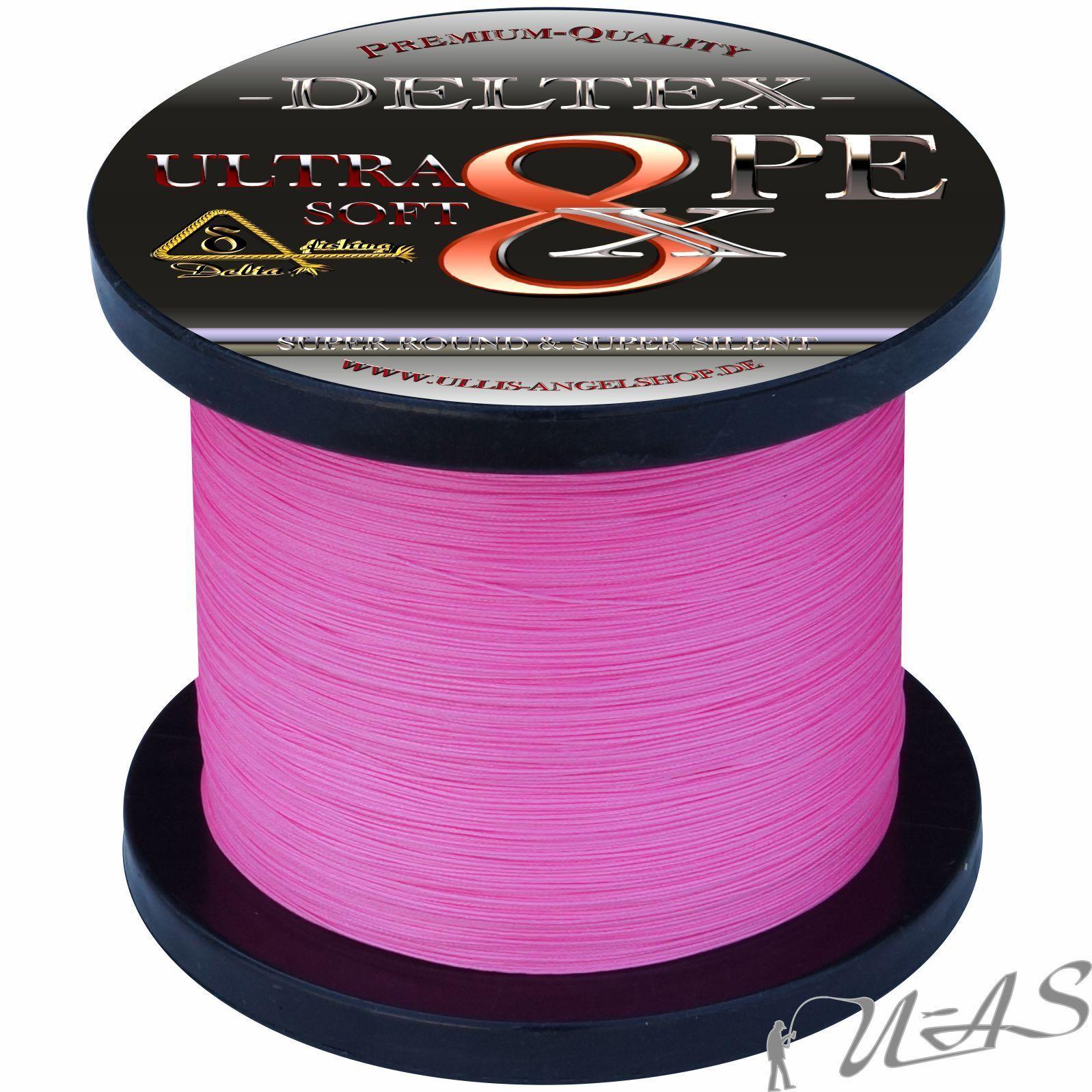 Deltex Ultra Soft rosa 0,35m 25.00kg 1000m 1000m 25.00kg 8 volte circa intrecciato LENZA 1d72d1