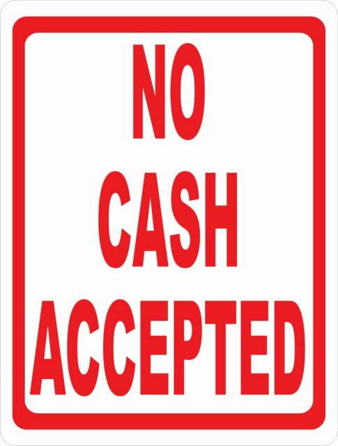 Size Options No Cash Accepted Debit or Credit Cards Only Sign Payment Accepted