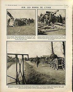 Bataille-de-l-039-Yser-Soldats-Artillerie-Plage-Nieuport-Coxyde-Belgique-1914-WWI