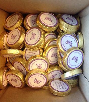 Personalised Wedding Chocolates in Cadbury Purple theme (set of 50)
