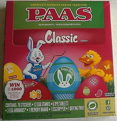 Paas Easter Egg Coloring Kit Classic Ebay