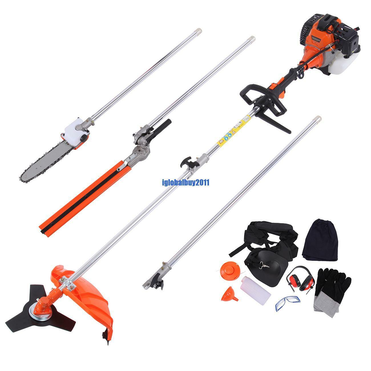 Multifunctional 5 in 1 52cc Petrol Hedge Trimmer Chainsaw Brush Cutter Pole  Saw2