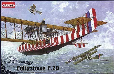 Roden 047-1:72 Felixstowe F.2A w//upper wing gunner position Neu