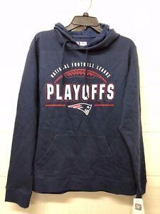 NWT NFL New England Patriots Sweatshirt Men s Blue Hoodie Football ... fc33848c6