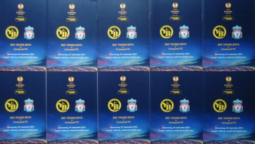 10 x Programme UEL 201213 Young Boys Bern vs Liverpool FC