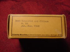 SCIENTIST and CITIZEN magazine on Microfilm full year 1968