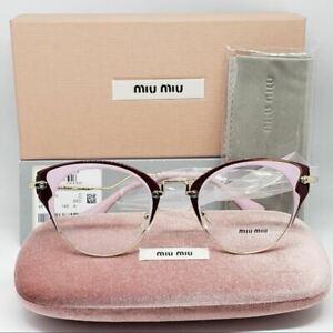 d1c6674e217 Miu Miu RX Cat Eye Eyeglasses Demo Lens Women s VMU 52PV U65-101