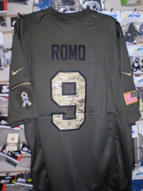 quality design c4b6e afd94 Nike Dallas Cowboys Salute to Service Camo Jersey Stitched Tony Romo 9 2xl