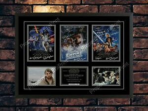STAR WARS TRILOGY 1977 - 1983 CAST SIGNED LIMITED EDITION  MOVIE A4 PHOTO PRINT