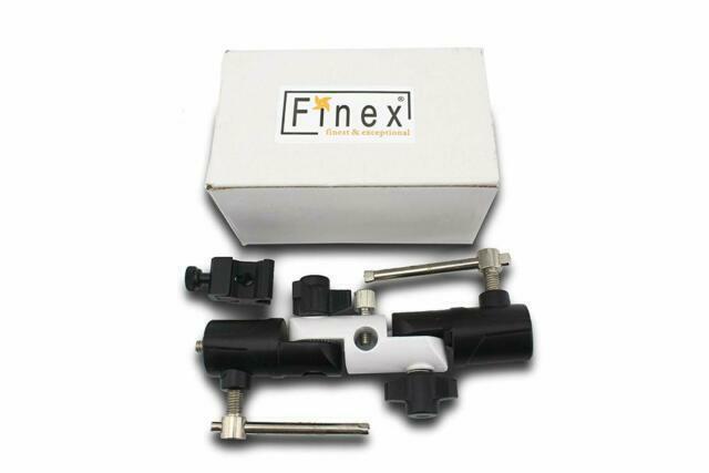 FINEX Full Aluminum OM-18 Pro Flash Hot Shoe Umbrella Holder Adapter Mount with Swivel//Tilt Bracket 3 Section U Shape for Nikon and Canon Speedlight