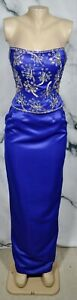 JOVANI Blue Strapless Two Piece Formal Prom Pageant Dress 8 Beaded Lined Bodice