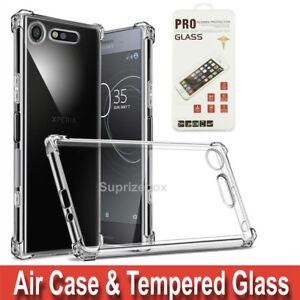 Case-For-Sony-Xperia-XA2-L1-XZ1-XA1-ULTRA-XZ2-Shockproof-Cover-amp-Tempered-Glass