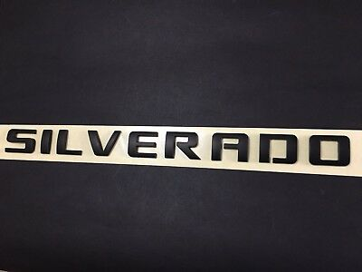 Gloss Black 3D Raised and Strong Adhesive Decals Letters Badge Fit for Silverado 1500 2500Hd 3500Hd