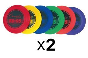 Champion Sports Competition Plastic Frisbee - 95 Gram Disc, Colors Vary (2-Pack)