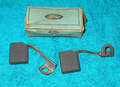Model H NOS BRUSH Lincoln SET Ford Mercury Deluxe GENERATOR ORIG 1939 85 Zephyr tg5Z8nq