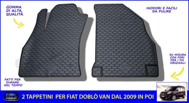 2 RICAMI TOP per FIAT FIORINO 2007/> TAPPETINI per AUTO SU MISURA in MOQUETTE