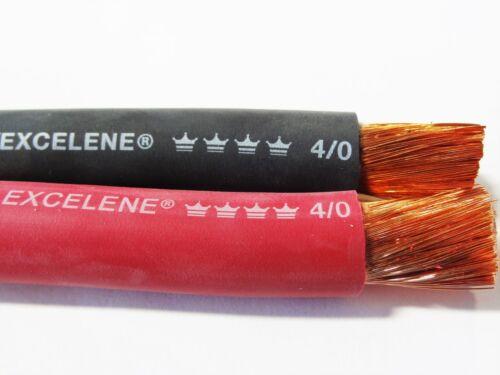 80/' 4//0 EXCELENE WELDING BATTERY CABLE 40/' BLACK 40/' RED USA MADE  600V COPPER