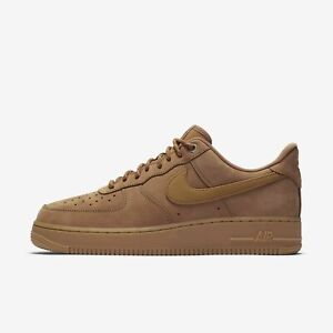 Details about NIKE AIR FORCE 1 LOW CJ9179 200 FLAX WHEAT GUM LIGHT BROWN BLACK