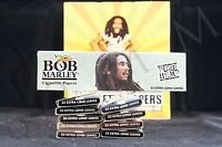 10 Packs Authentic Bob Marley King Size Papers Pure Hemp Natural Gum