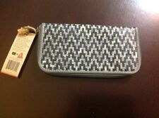 MOVMT The People's Movement Gray Black Zig-Zag  Zippy pocket book Wallet NWT